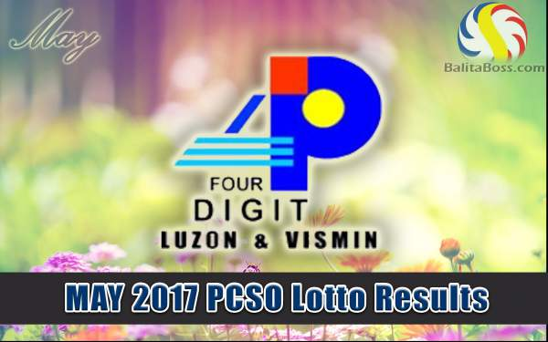Results: May 2017 4-Digit PCSO Lotto