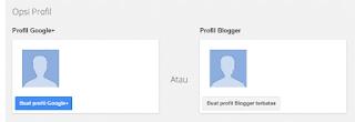 Cara membuat profil blog gratis di blogger