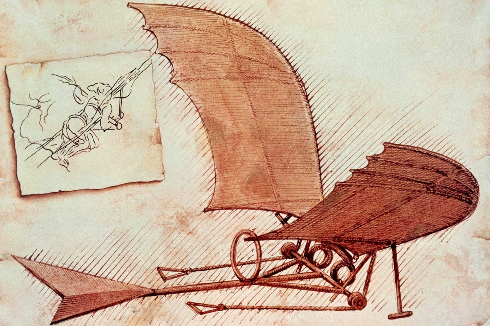 Resultado de imagem para leonardo da vinci flying machine