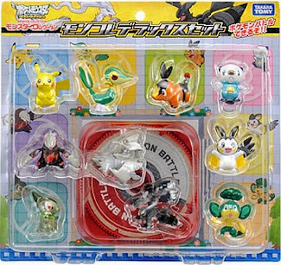Emolga figure Takara Tomy Monster Collection BW 10pcs figures DX set