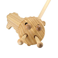 PW08, Push along Sheep , Lotes Wooden Toys