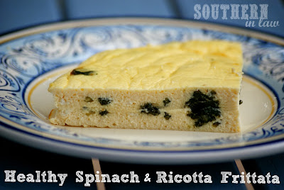 Healthy Spinach and Ricotta Frittata Recipe