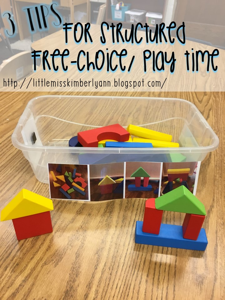 Little Miss Kim S Class 3 Tips For Structured Free Choice