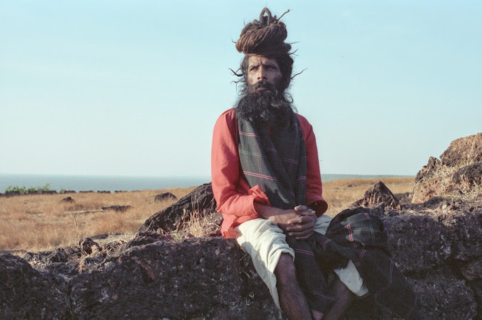 Goa, Chapora, sadhou, © L. Gigout, 1990