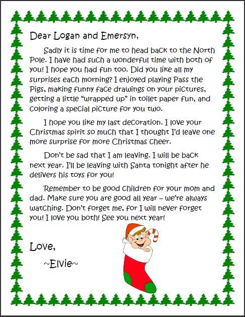 Goodbye letter to Elvie