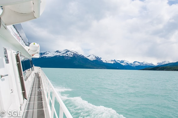 Calafate, Navegando entre glaciares