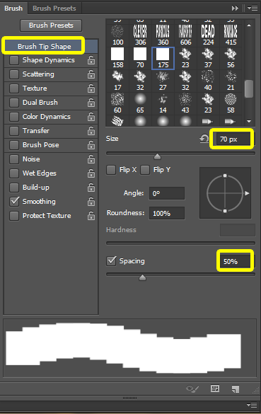 Brush Palette setting in photoshop