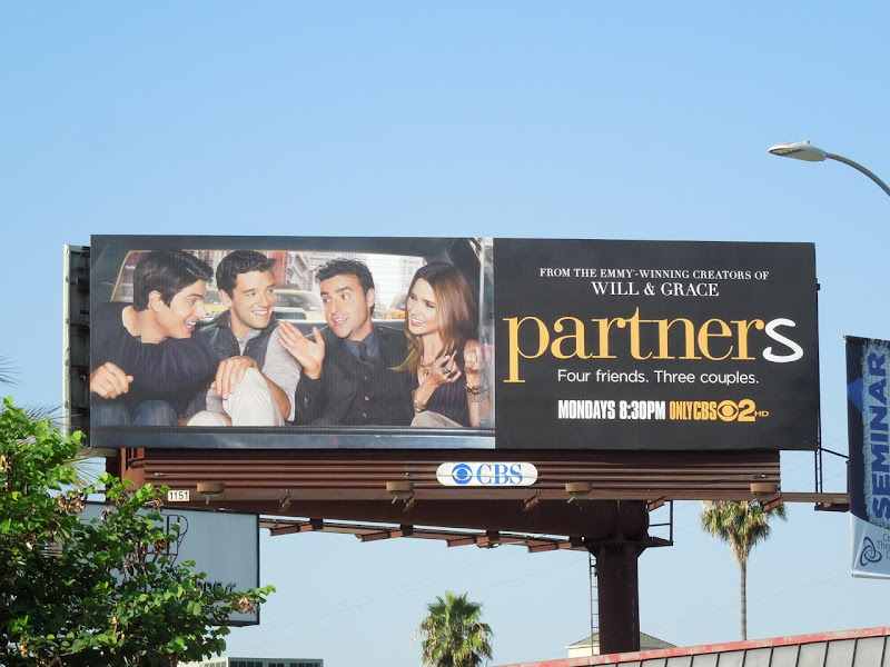 Partners CBS sitcom billboard