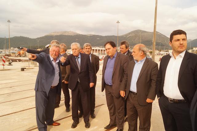 Επίσκεψη του Υπουργού Ναυτιλίας και Νησιωτικής Πολιτικής Φώτη Κουβέλη στο λιμάνι της Ηγουμενίτσας (+BINTEO)