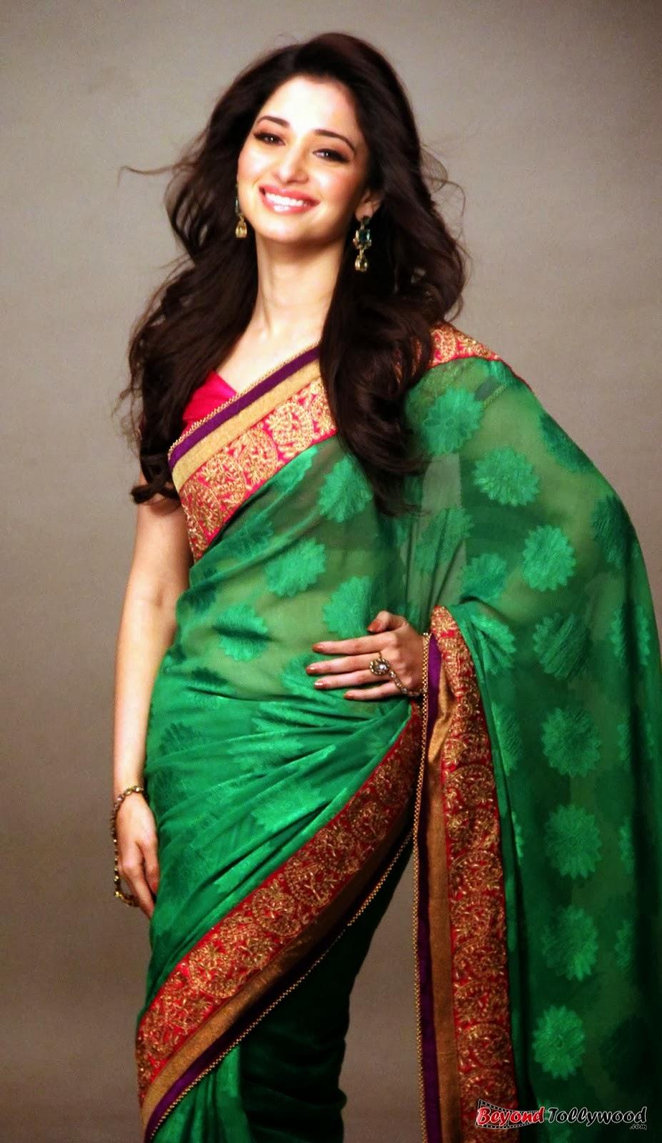 Tamanna Saree Gulte: Spicyimg: Tamanna Latest Saree Photoshoot Stills