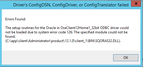 SETUP ROUTINES FOR ORACLE ODBC WINDOWS 7 64BIT DRIVER DOWNLOAD