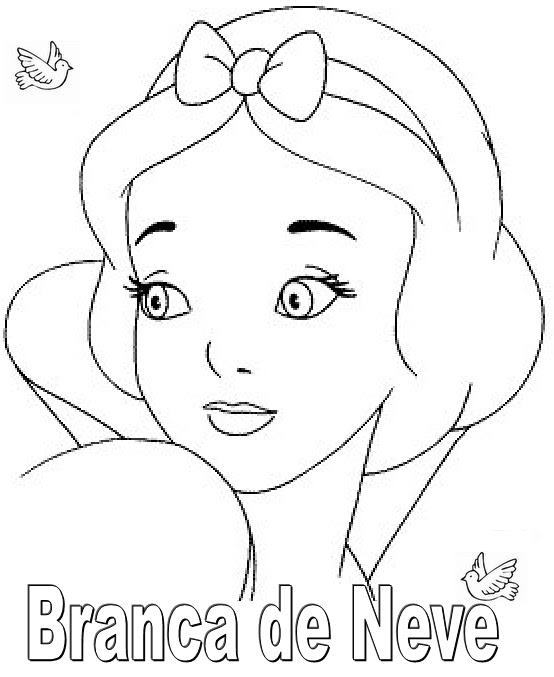 Coisinhas Para Criancas Desenhos Da Branca De Neve Para Colorir