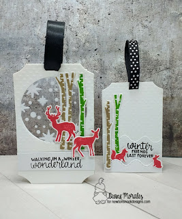 Winter Friends Tags by Diane Morales | Serene Silhouettes Stamp Set by Newton's Nook Designs
