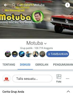 Motuba, satu-satunya group facebook yang legal secara hukum. MANTAP!!