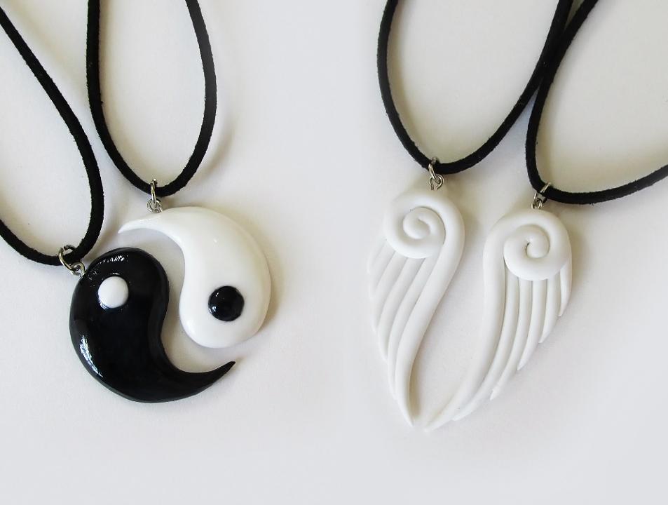 DIY: COLAR DA AMIZADE - Asas de Anjo & Yin Yang