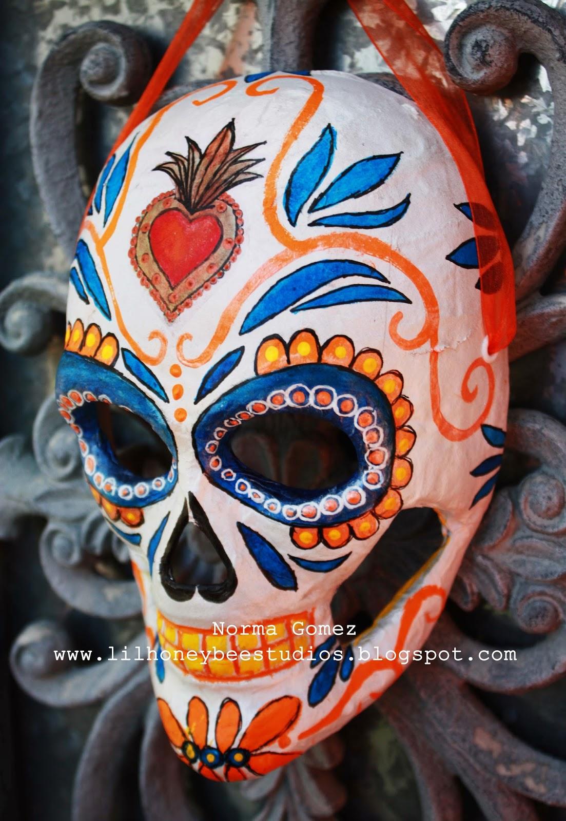 Little Honey Bee Studios: Sugar Skull Mask