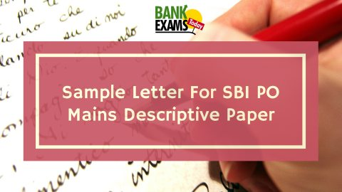 Sample Formal Letter For Sbi Po Mains Descriptive Paper Bankexamstoday