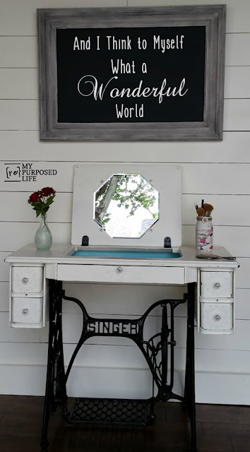 repurposed desk