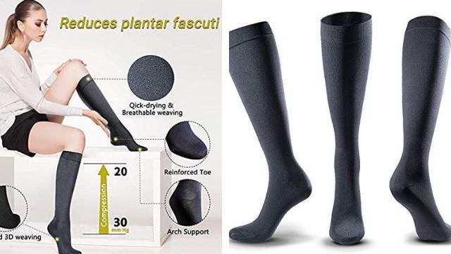BERTER Compression,Socks Women Men, 20-30mmHg,Graduated Athletic Socks, Flight Travel, Nursing, Pregnancy, Shin Splints, Varicose Veins, Running,