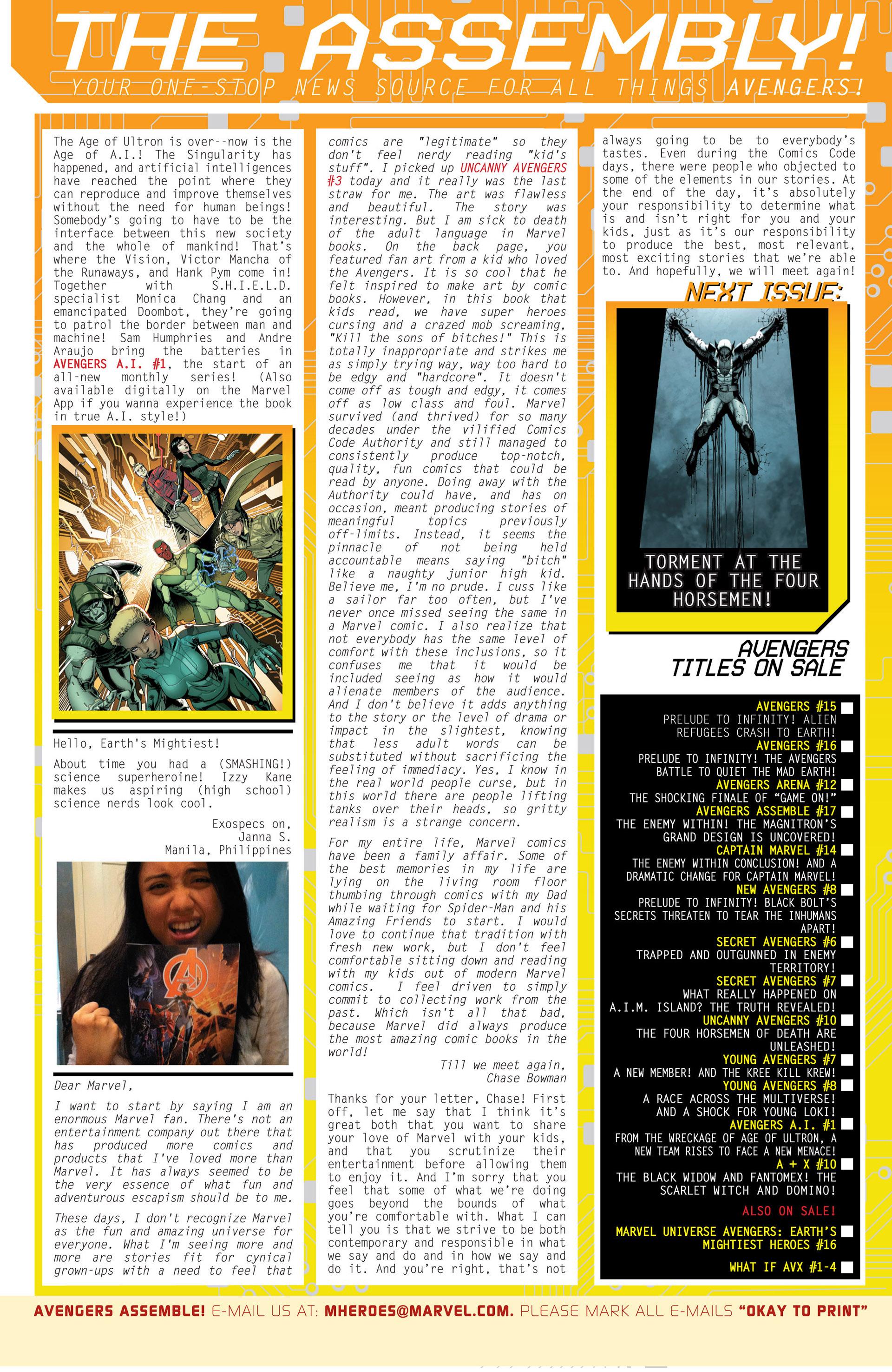 Read online Uncanny Avengers (2012) comic -  Issue #10 - 22