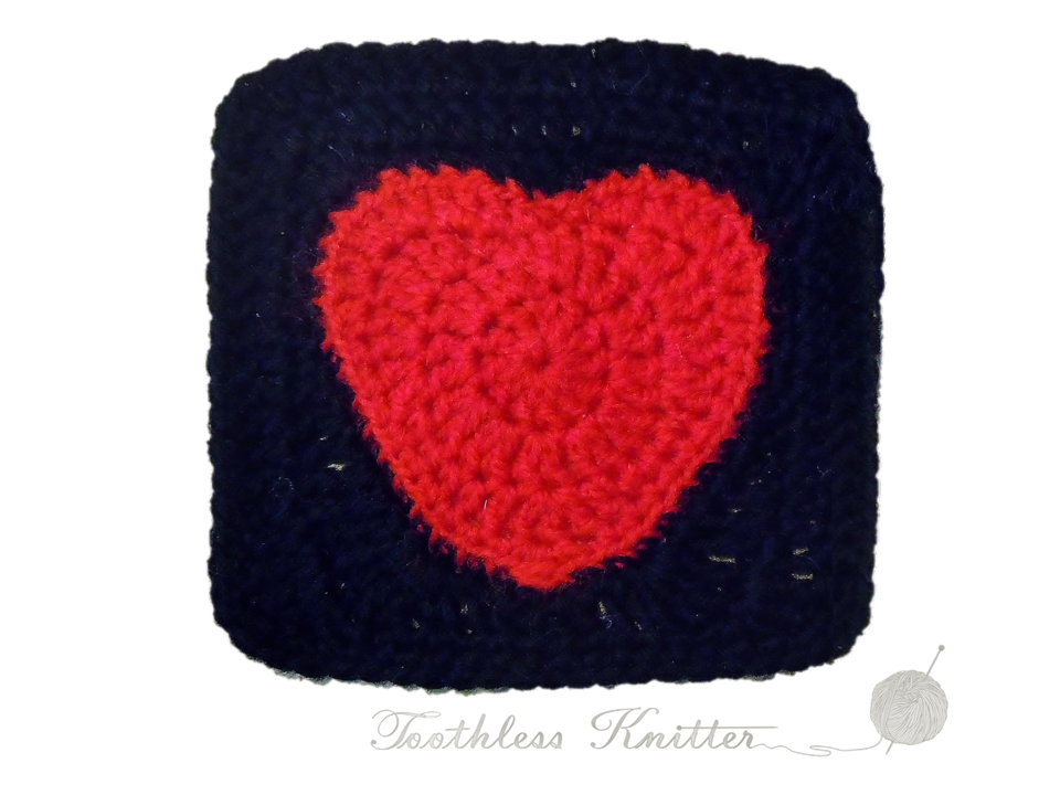 Granny Squares and Motifs: Heart / Granny Squares i Motywy: Serce