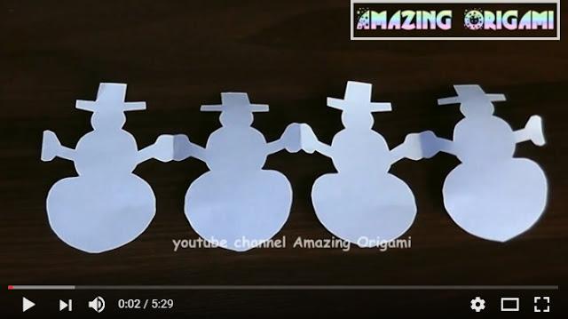 paper snowmen garland
