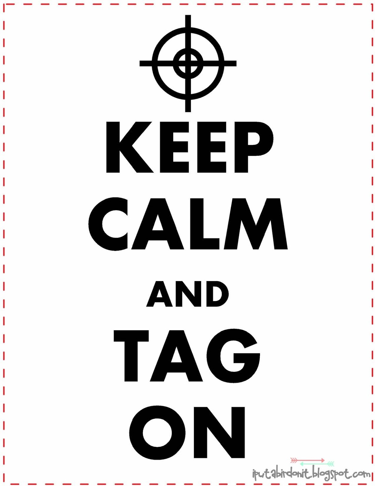 Put A Bird On It Keep Calm And Tag On Glow In The Dark