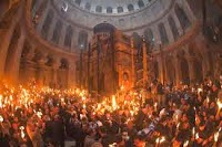 Holy Fire ceremony on the eve of Easter