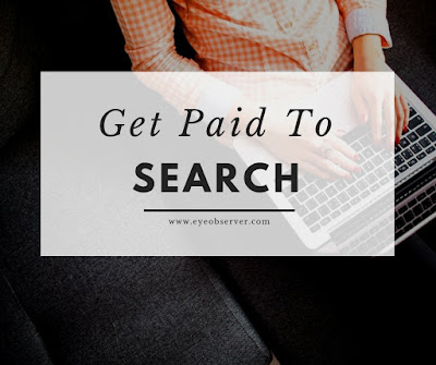 Make money searching on the web