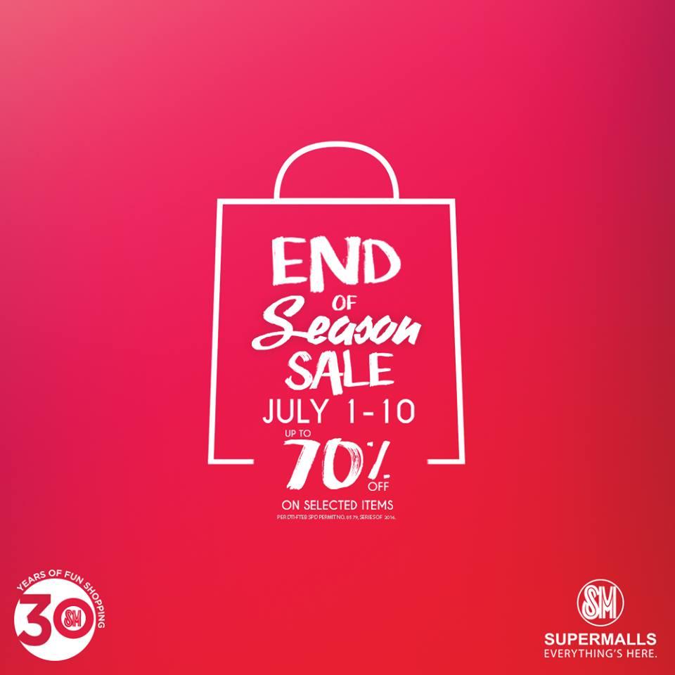 ddd475f8a49 SM Malls End of Season Sale July 1 to 10 2016