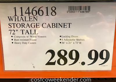 Costco 1146618 - Deal for the Whalen Industrial Metal and Wood Storage Cabinet at Costco