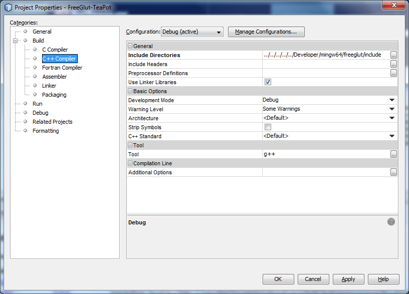 Mark's Area of Thoughts: How to Set up FreeGLUT on NetBeans IDE 8 1