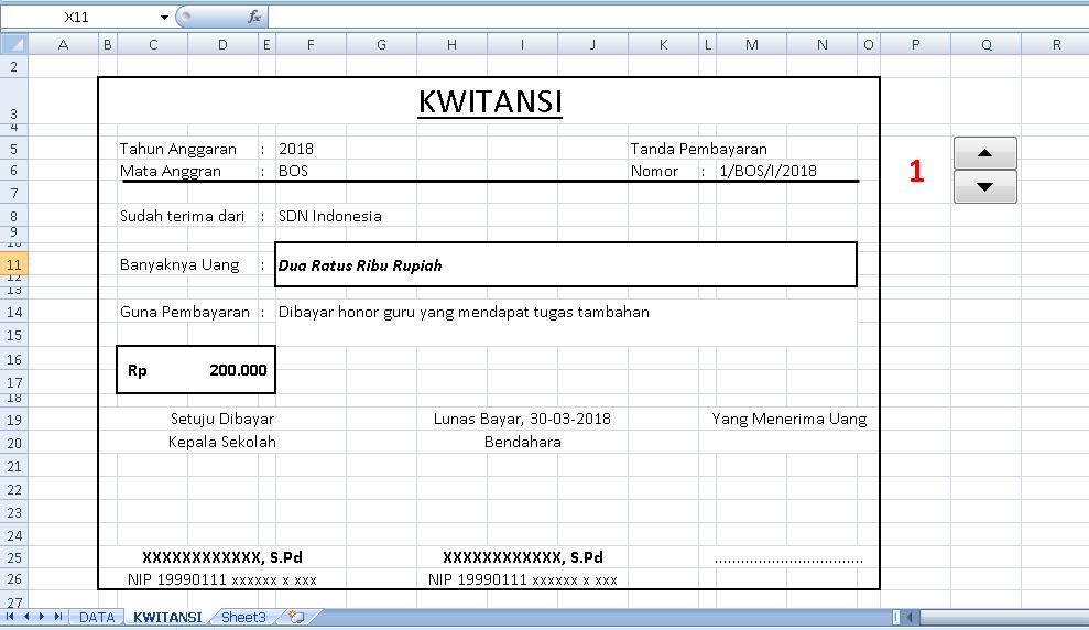 Tutorial Cara Membuat Kwitansi Dana Bos Otomatis Di Excel