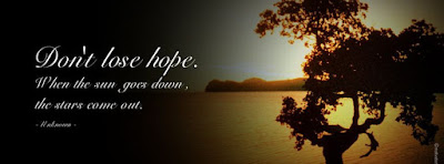 Couverture facebook sur l'espoir de vivre