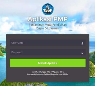 Aplikasi Penjaminan Mutu Pendidikan (PMP) Ditjen Dikdasmen Versi 1.2 Tahun 2016