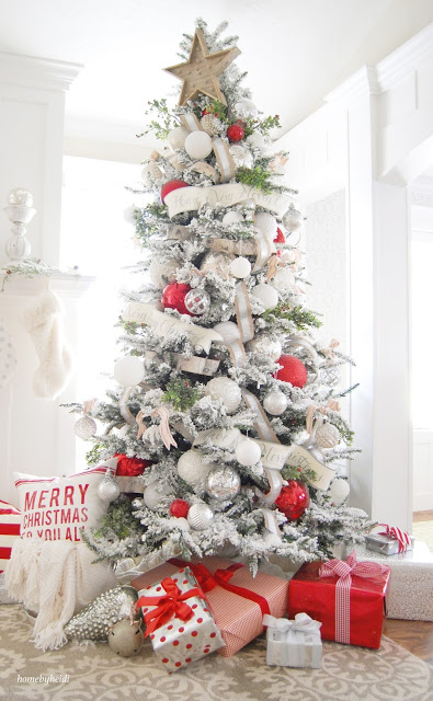 Can't wait to share this year's tree with everyone. I do have to say, I am  happy that I don't have to photograph it. Christmas Trees are HARD to take  ... - Home By Heidi: Christmas Trees, And More Christmas Trees