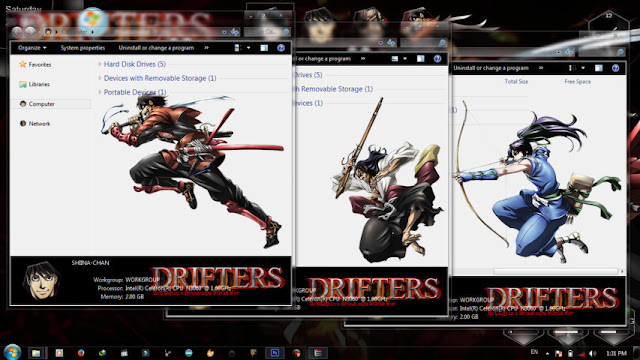 Drifters Theme Win 7 by Bashkara