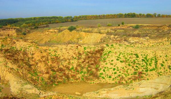 Sand quarry near the village Druzba in Ukraine