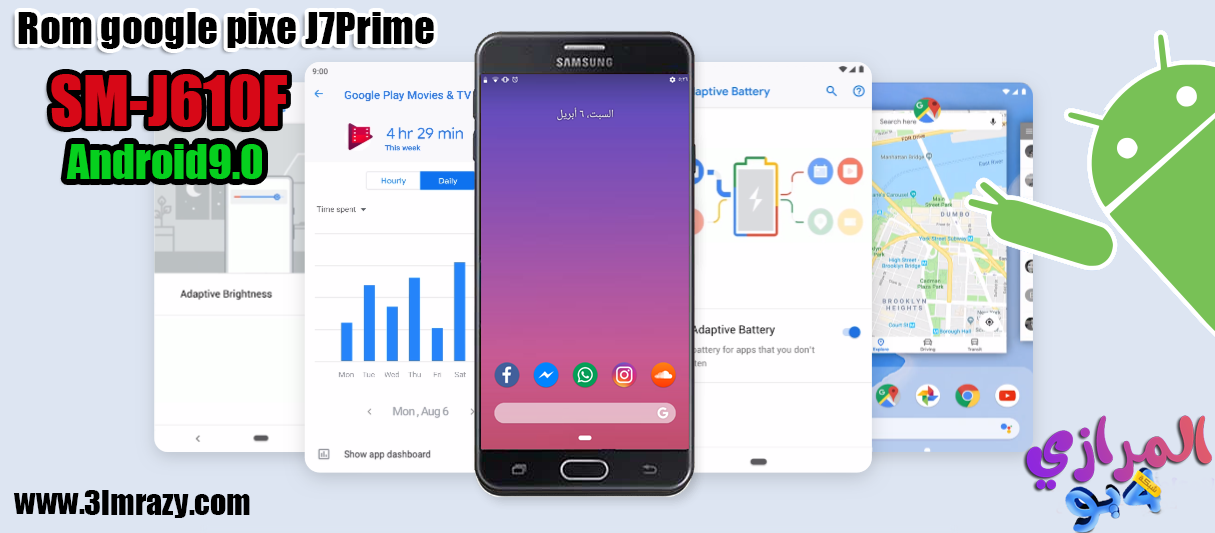 Rom google pixel 3xl For J7Prime Android 9 Pie