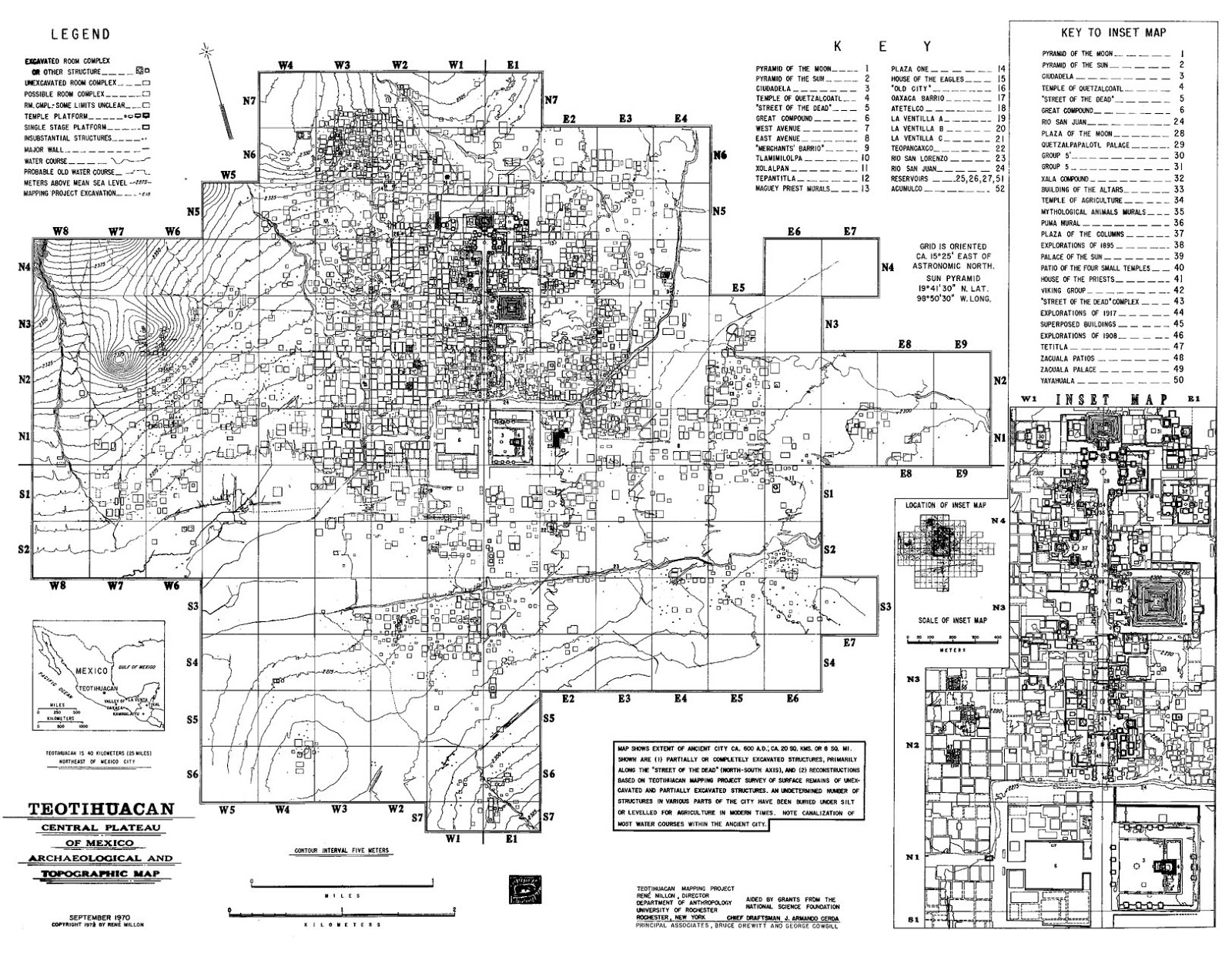 the millon cowgill map of teotihuacan