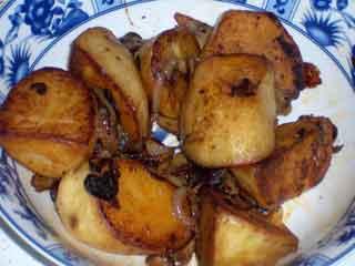 Potatoes served