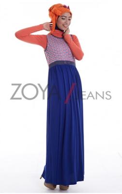 Model Baju Muslim Zoya Bahan Jeans Modis dan Trendy Terbaru