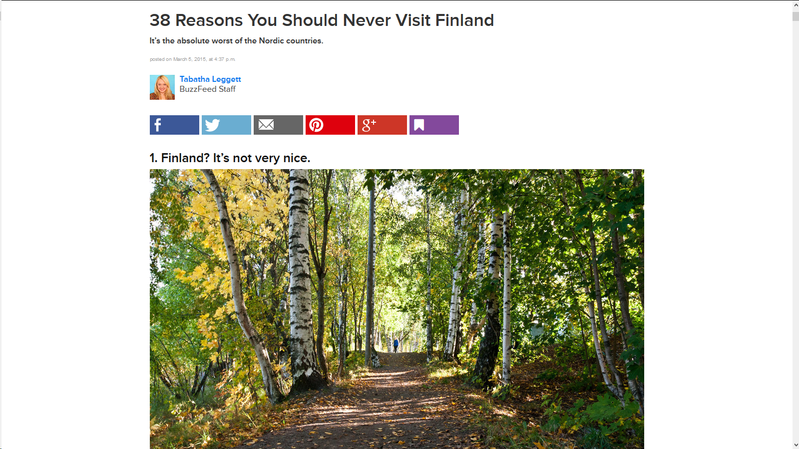 http://www.buzzfeed.com/tabathaleggett/reasons-you-should-never-visit-finland