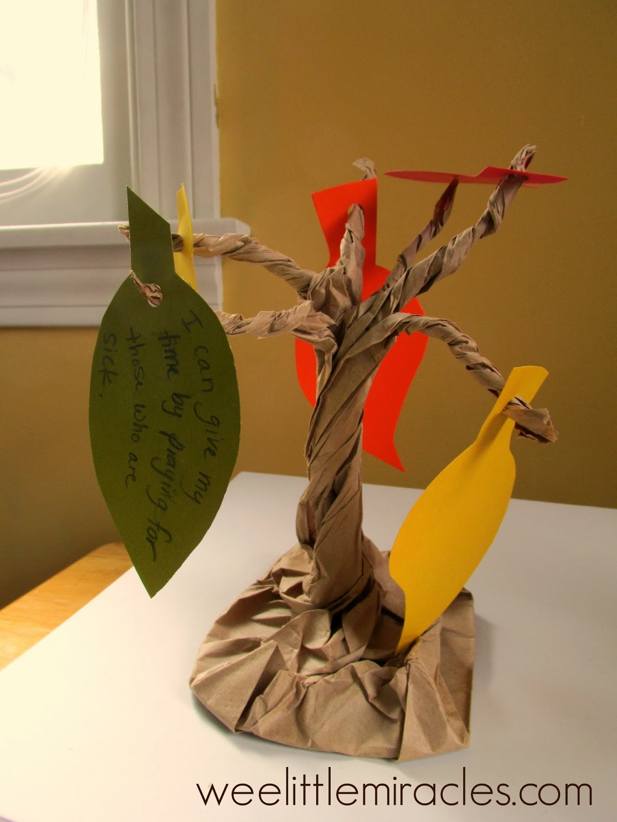 Wee Little Miracles Giving Trees A Simple Kids Craft For