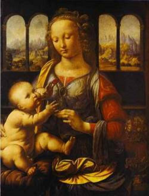 Madona com cravo, pintura de Da Vinci.