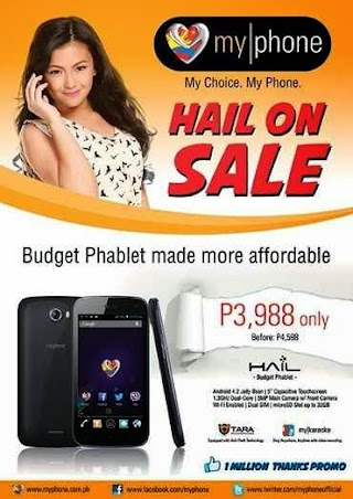 MyPhone Hail now on Sale, Phablet Promo Price and Specs