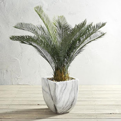 Outdoor Potted 38-Inch Artificial Cycas Plant