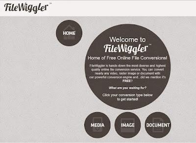 FileWiggle : Online εφαρμογή μετατροπής αρχείων εικόνας, βίντεο, ήχου και εγγράφων