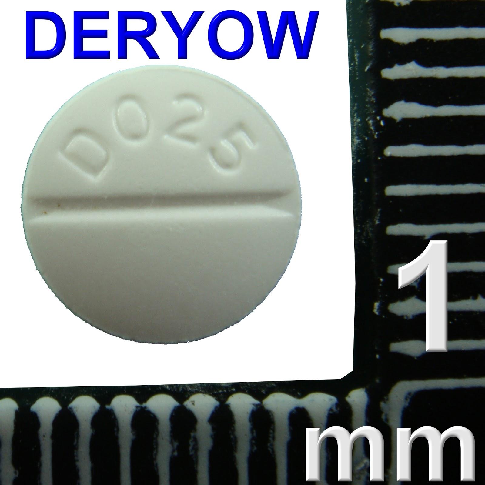 德佑藥局藥袋資訊暨藥品外觀分享: BC09554100 LANOXIN 0.25mg TAB. B.P. DIGOXIN 隆我心錠 圓微凸形白色(D025│) 痕(A1)