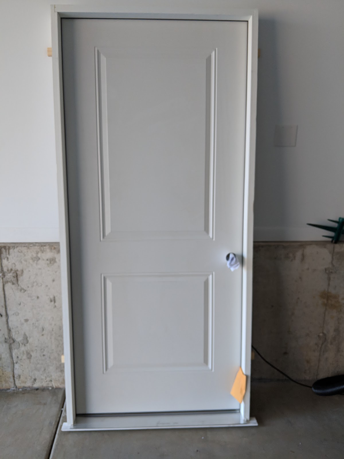 & Door Acquired for Basement Workshop Project